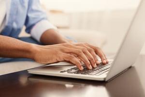 Browsing Internet on Laptop